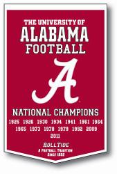 "Alabama Crimson Tide 24""x36"" Dynasty Wool Banner"