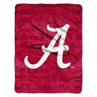 "Alabama Crimson Tide 46"" x 60"" Micro Raschel Throw Blanket - Grunge Style"