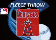 Anaheim Angels 50x60 Fleece Blanket - Wicked Design