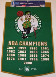 "Boston Celtics 24""x36"" Wool Dynasty Banner"