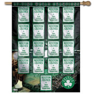 "Boston Celtics 27""x37"" Banner - 17 Time Champions"