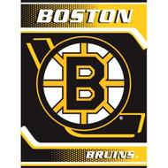 "Boston Bruins 60""x80"" Royal Plush Raschel Throw Blanket"