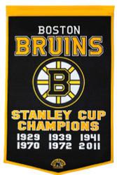 """Boston Bruins 24""""x36"""" Wool Dynasty Banner"""