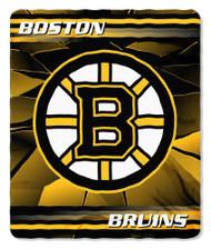 Boston Bruins 50x60 Fleece Blanket - Ice Design