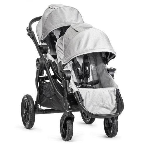 Baby Jogger City Select Black Frame Stroller w/ 2nd Seat, Silver