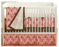 JJ Cole Pink Vintage 4 Piece Bedding Set
