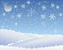 Christmas scene Photo Backdrop