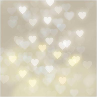 Heart bokeh photography backdrop