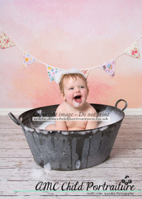 Orange and pink photography backdrop