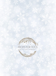 Ice blue snowflake Christmas photographer backdrop