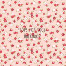 Shabby Chic scattered roses pink