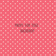 Shabby Chic Polkadots rose pink