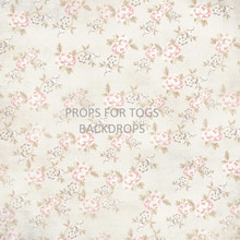 Vintage floral - cream Photography Backdrop