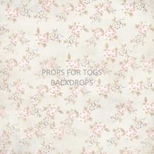 Vintage floral - cream Photography Backdrop