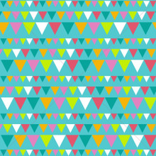 Colourful Party Bunting Turquoise Photography Backdrop