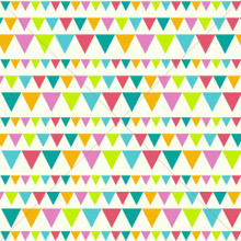 Colourful Party Bunting Ivory Photography Backdrop