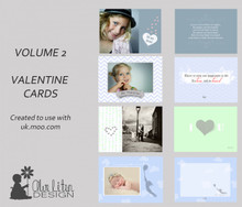 Valentine Card templates Vol II - By Alve Liten