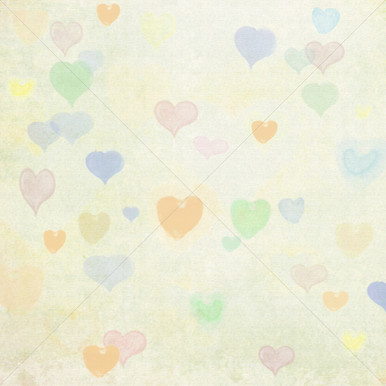 Pastel Heart Design Photo Backdrop
