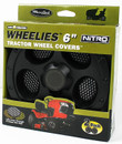"Wheelies  6"" Black Wheel Covers Free Shipping"