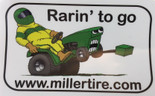 Rarin' To Go Green Decal