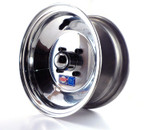 "8x4 Aluminum Wheel, Hub, 3/4"" Bearings"