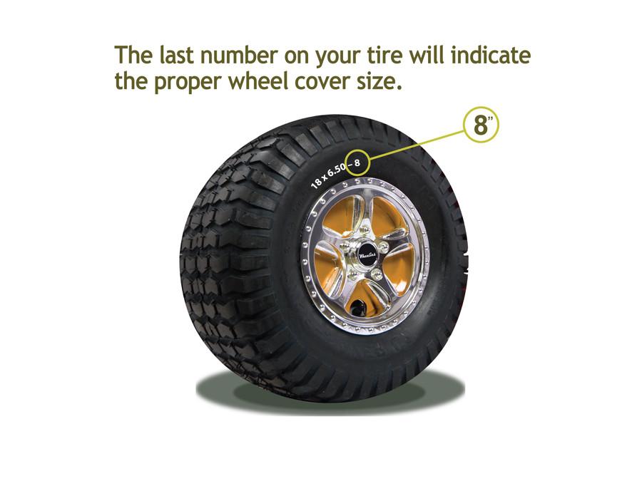 12 Wheel Covers : Wheelies quot wheel covers free shipping m e miller tire