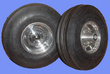 3.50-6  3-Rib Tires & Aluminum Wheels