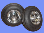 3.50-8  3-Rib Tires & Aluminum Wheels