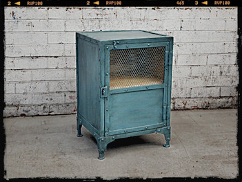 Industrial Storage Bedside Table