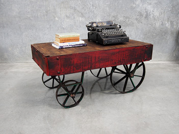 Industrial coffee table cart vintage furniture online for Coffee tables melbourne