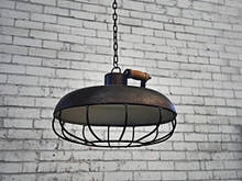 Industrial Pendant Light With Cage