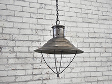 Industrial Chrome Cafe Pendant Light