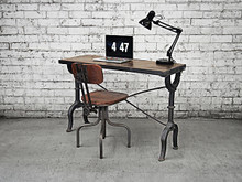 Industrial Iron Desk