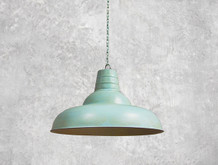 Light Blue Industrial Pendant
