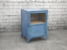 Blue Bedside Locker
