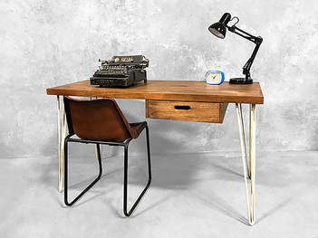 Retro Hairpin Office Desk