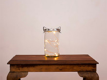 Vintage Glass Jar Lantern