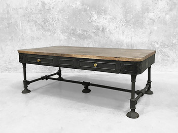 French Industrial Coffee Table