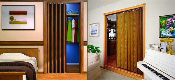 Folding doors and vinyl accordion doors.