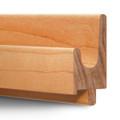 3/4Ó Oak or Maple Hardwood Finger Pulls - J Profile
