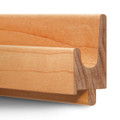 "3/4"" Maple or Oak Hardwood Finger Pulls - J Profile"