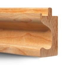 3/4Ó Maple or Oak Hardwood Finger Pulls - C Profile