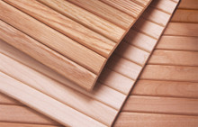 Flat Slat Tambours with Radiused Edges  - Oak, Cherry, Alder, or Maple