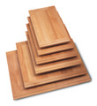 Laminated Alder hardwood breadboards with Alder finger pulls on both ends.