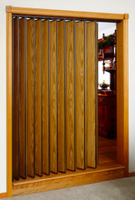 Woodfold Residential Accordion Door Used As Closet Folding Door