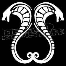 Cobra Snake Mirrored Silhouette 12 Decal Sticker