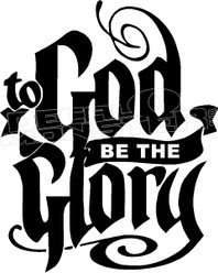 To God Be The Glory 1 Religious Decal Sticker