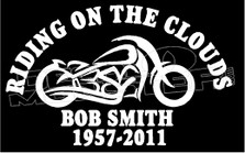 Motorcycle In Loving Memory Of... 13 Memorial decal Sticker