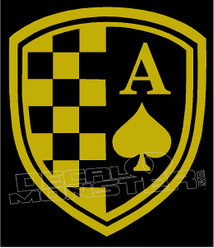 Racer Ace Decal Sticker
