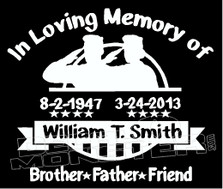 USA Stars & Stripes In Loving Memory Of... 3 Memorial decal Sticker